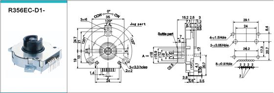 > 产品展示 > 编码器系列 产品编号:dvr,nvr专用srgphj飞梭编码器